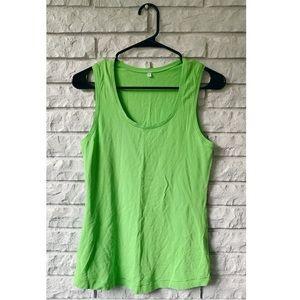 Lululemon Bright Green Tank Top